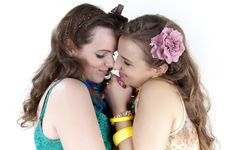 Free Two Happy Girls Friends. Stock Photography - 24076322
