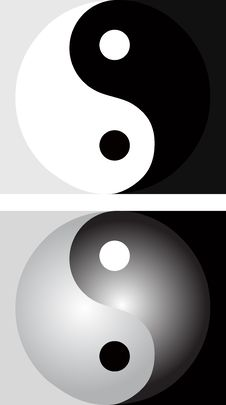 Free Background With Yin Yang Stock Photography - 24076522