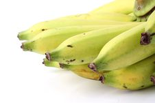 Free Fresh Ripe Banana  On White Background Stock Photos - 24077623