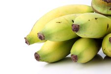 Free Fresh Ripe Banana  On White Background Stock Photography - 24077642