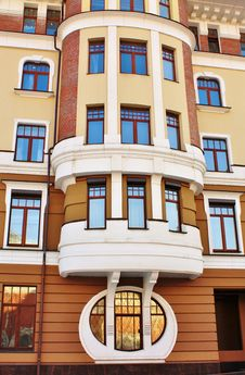 Free Facade Of The Brown Residential Building Stock Photo - 24077850