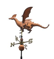 Free Dragon Weather Vane Isolated Royalty Free Stock Photo - 24078265