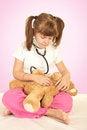 Free Girl And Bear Stock Photo - 24081810