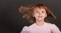 Free Little Girl Flying Hair Stock Images - 24082844