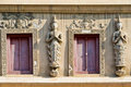 Free Tample Window With Two Angels In Thai Temple Royalty Free Stock Image - 24084056