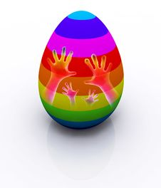 Free Colorful Easter Egg Royalty Free Stock Photography - 24080107