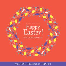 Easter Background Card, Vector