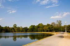 Free Reservoir With Blue Sky Royalty Free Stock Image - 24084216