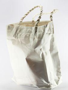 Free White Paper Bag On White Background Stock Image - 24084291