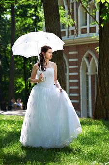 Free Happy Bride On Walk Royalty Free Stock Photo - 24085035
