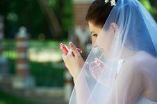 Makeup The Bride In Wedding Walk Stock Image