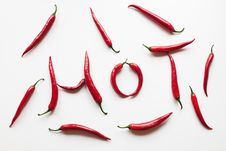 Free Hot Red Chili Peppers Royalty Free Stock Photography - 24085497