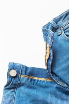 Free Jeans On White Background Stock Photography - 24085942