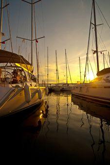 Free Yachts At A Wharf Stock Image - 24085981