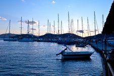 Free Yachts In The Evening Stock Image - 24086151