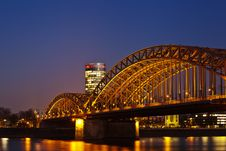 Free Hohenzollern Bridge In Cologne Stock Photo - 24088900