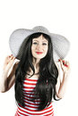 Free Beautiful Girl With Hat Royalty Free Stock Photo - 24098735