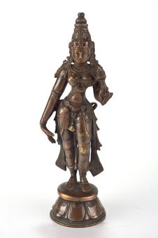 Free Bronze Metal Statue Of Indian Godess Stock Images - 24093984