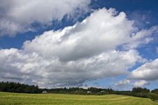 Free White Clouds Above The Field Stock Images - 24094014