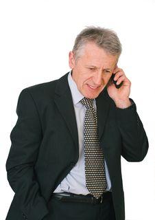 Businessman Has A Phone Call Royalty Free Stock Photos