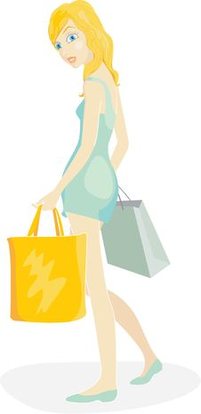 Free Shopper Girl Royalty Free Stock Images - 24096899