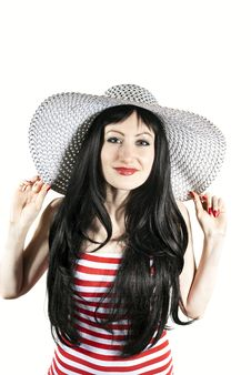 Beautiful Girl With Hat Royalty Free Stock Photo
