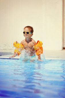 Free Pleasure In The Pool Stock Image - 24099071