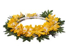 Wreath Of Flowers Stock Photography