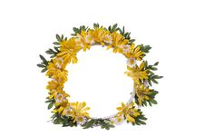 Wreath Of Flowers Stock Images