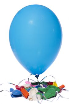 Free Deflated Colorful Balloons Royalty Free Stock Photo - 24099525