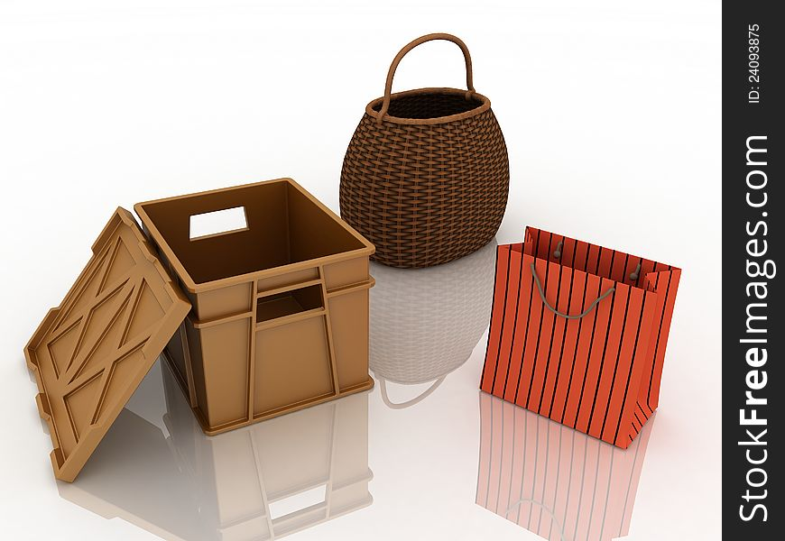 Containers for purchases