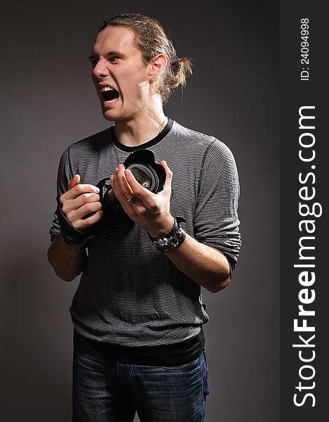 The crazy photographer