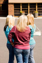 Free Three Girls Group Looking Away Stock Photography - 2417742