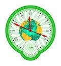 Free World Globe And Clock2 Stock Photography - 2418912