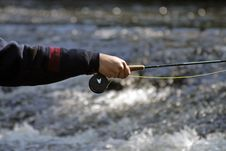 Free Fisher In River Stock Photo - 2410030