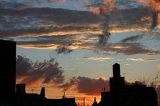 Free NYC Dawn Silouhette Stock Image - 2410041