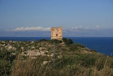 Free Hilltop Normand Tower. Sea Sky Stock Image - 2410261