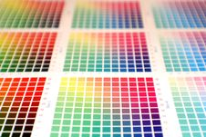 Free Rainbow Color Chart Stock Photo - 2410370