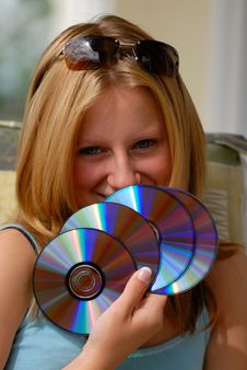 Free Girl With Fan Stock Photo - 2410880