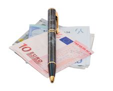 Free Pen And Money Stock Photography - 2410942