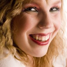 Free Make Up With A Smile Royalty Free Stock Photography - 2412007