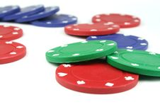 Free Poker Chips Royalty Free Stock Image - 2412286