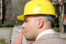 Free Businessman Smoking Stock Photo - 2412560