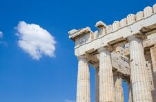 Free Lonely Cloud Over Acropolis Stock Photography - 2413792