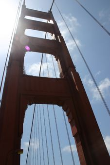 Golden Gate North Tower Royalty Free Stock Photos