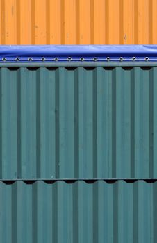 Colorful Containers Royalty Free Stock Photo