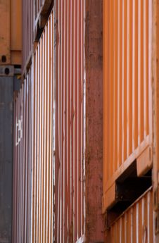Containers In Montreal 3 Stock Images