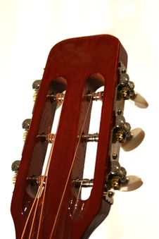 Free Acoustic Guitar Head Stock Photography - 2414462