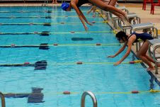 Free Swimming Competition Royalty Free Stock Image - 2415606