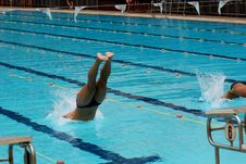 Free Swimming Competition Stock Images - 2415614